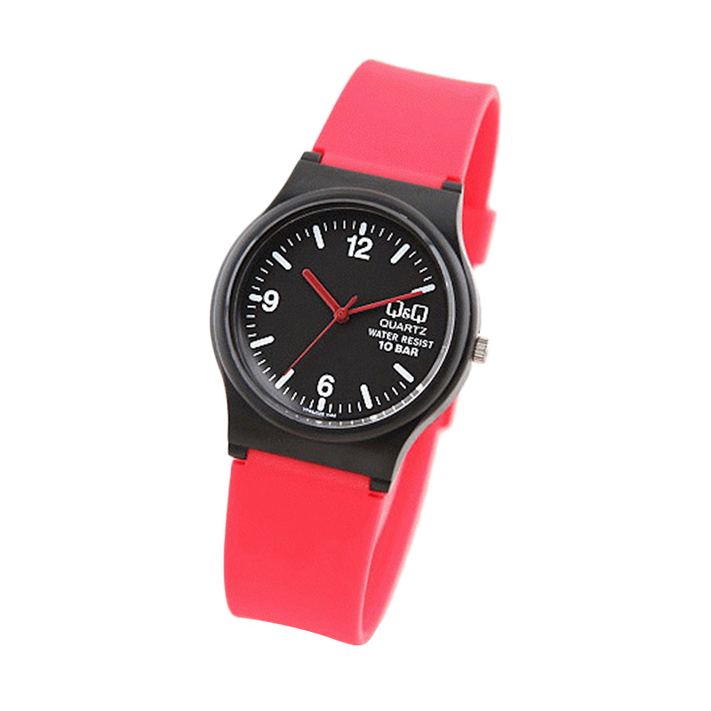 Q&Q VP46 Jam Tangan Wanita - Black red