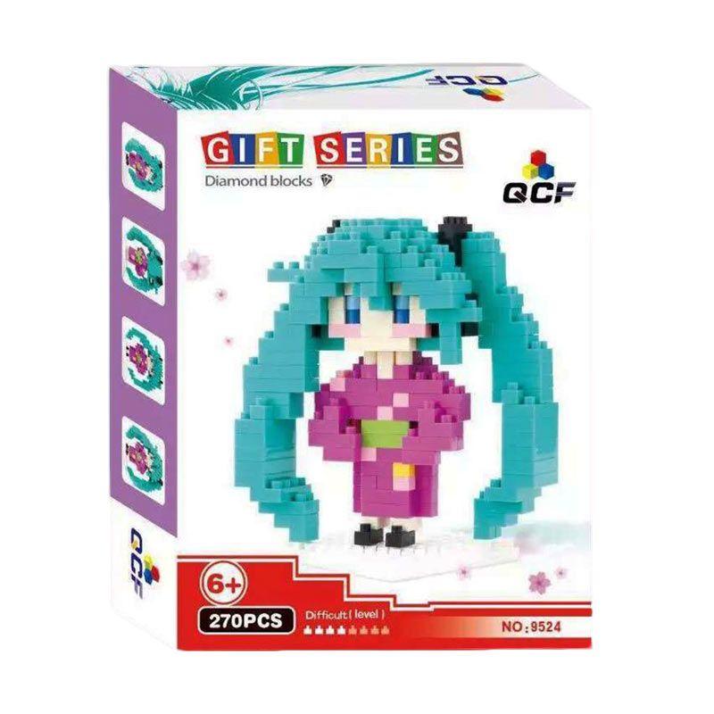 Qcf 9524 Hatsune Miku Purple Mainan Blok & Puzzle