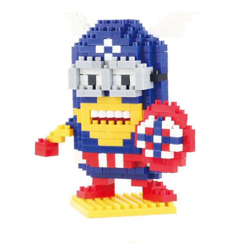 Qcf 9526 Minion Capt America Qcf 9526 Minion Captain America Mainan Blok & Puzzle