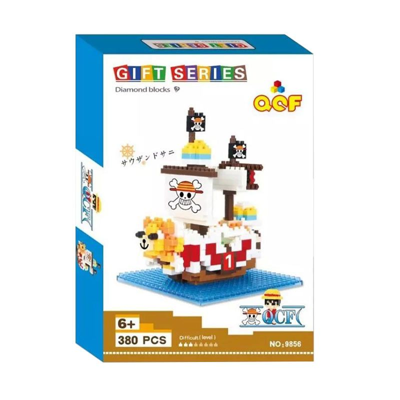 Qcf 9856 One Piece Ship Mainan Blok & Puzzle