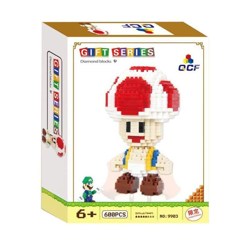 Qcf 9903 Toad Mario Bros Mainan Blok & Puzzle