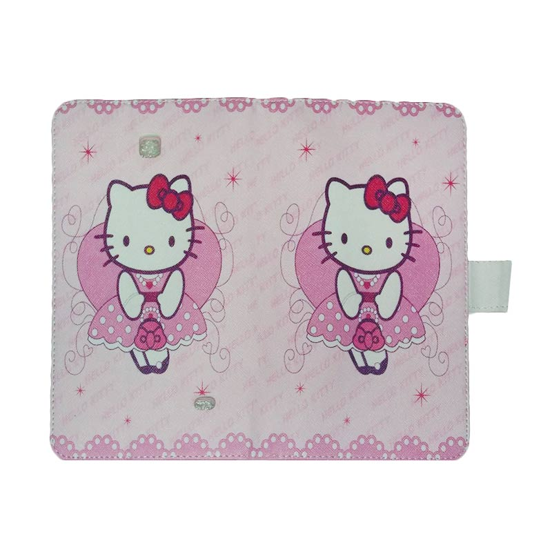 harga QCF Leather Case Hello Kitty 3 Casing for Samsung Galaxy Tab 4 T330 [8.0 inch] Blibli.com