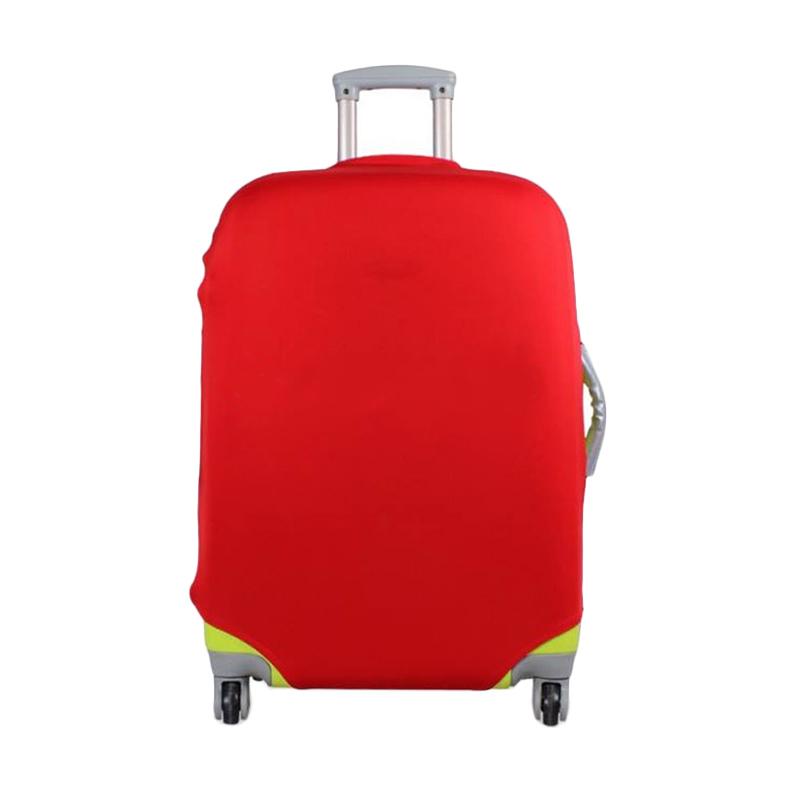 harga QCF Luggage Cover Protector Elastic Suitcase/ Sarung koper Small for 18-22 Inch - Merah Blibli.com