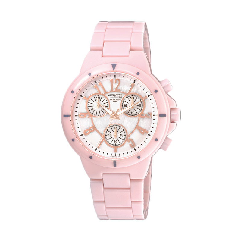 QnQ Attractive Mika Jam Tangan Wanita - Pink