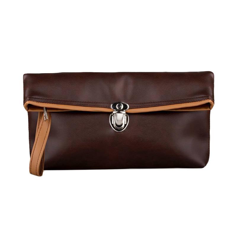Quinta Elegant Clutch Dompet Wanita - Dark Brown