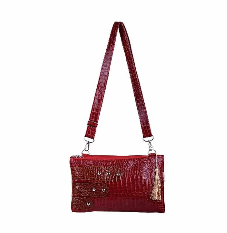 Quinta HPO Shiny Contrast Tas Wanita - Red