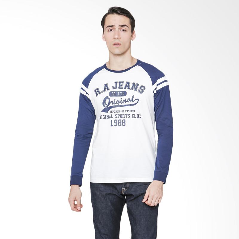RA Jeans Original T-Shirt Atasan Pria - Putih Extra diskon 7% setiap hari Citibank – lebih hemat 10% Extra diskon 5% setiap hari