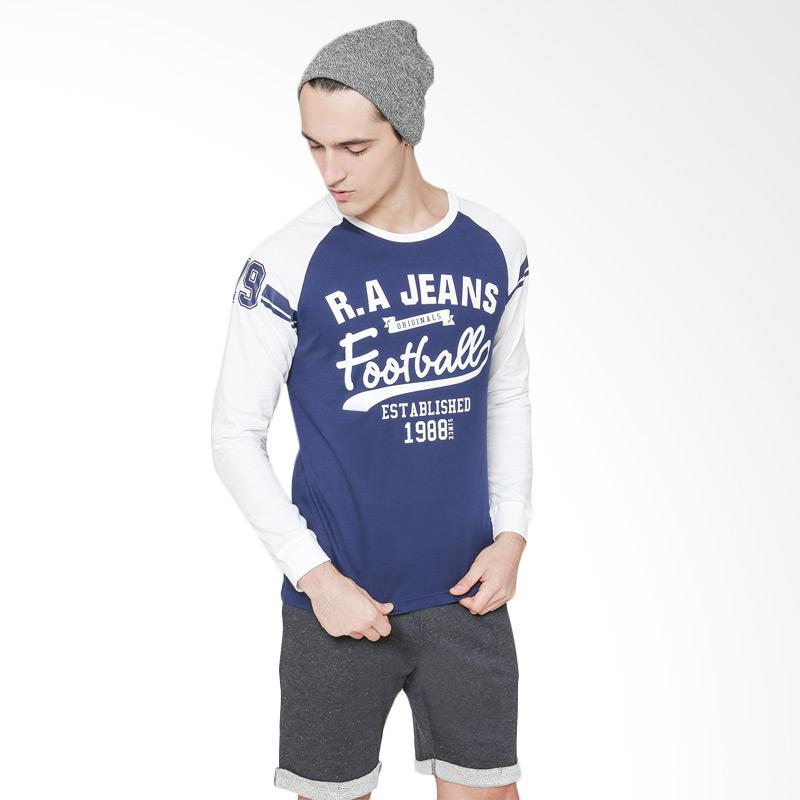 RA Jeans T-Shirt Football Atasan Pria - Navy Extra diskon 7% setiap hari Extra diskon 5% setiap hari Citibank – lebih hemat 10%