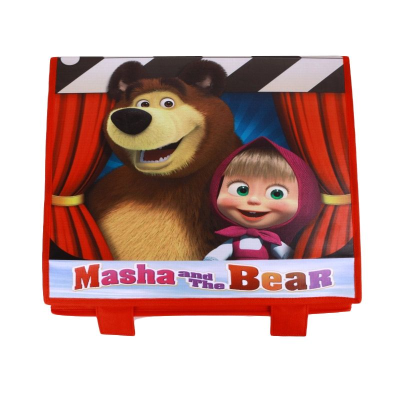 Radysa Masha and The Bear Merah Toy Box Organizer