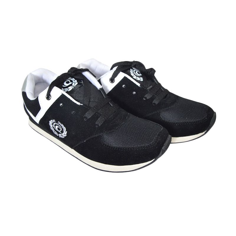 Raindoz Casual Black Sepatu Pria