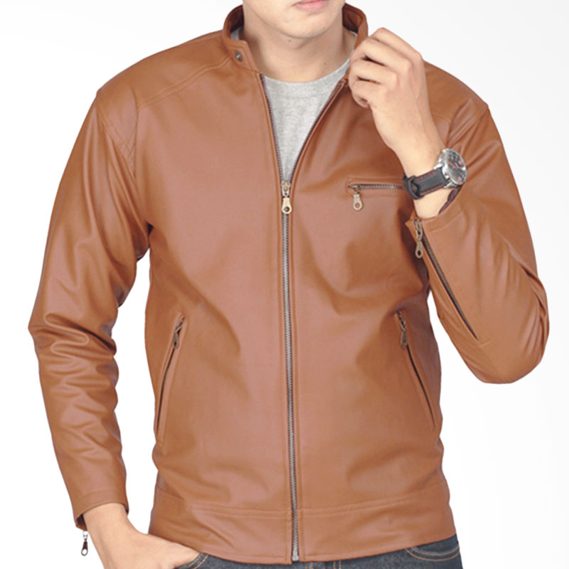 Raindoz Jacket RDI048 Leather - Light Brown