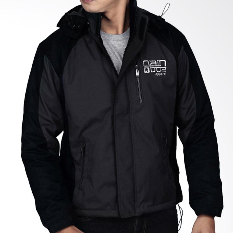 Raindoz RRL004 Jacket - Black Combi Grey