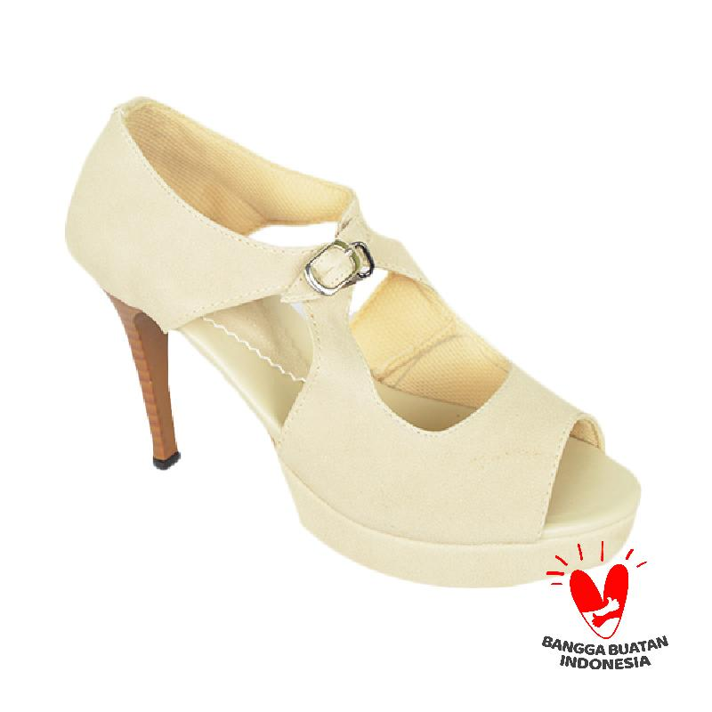 Raindoz Women High Heels RDO 402 Cream Sepatu Wanita