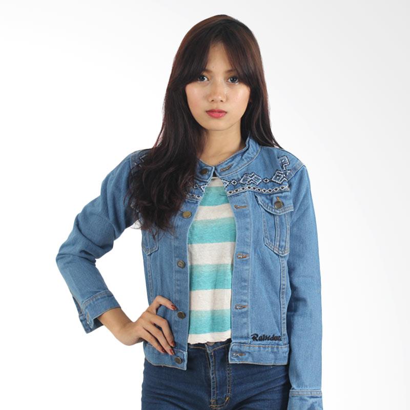 Raindoz Women RNU 107 Denim Combi Batik - Blue