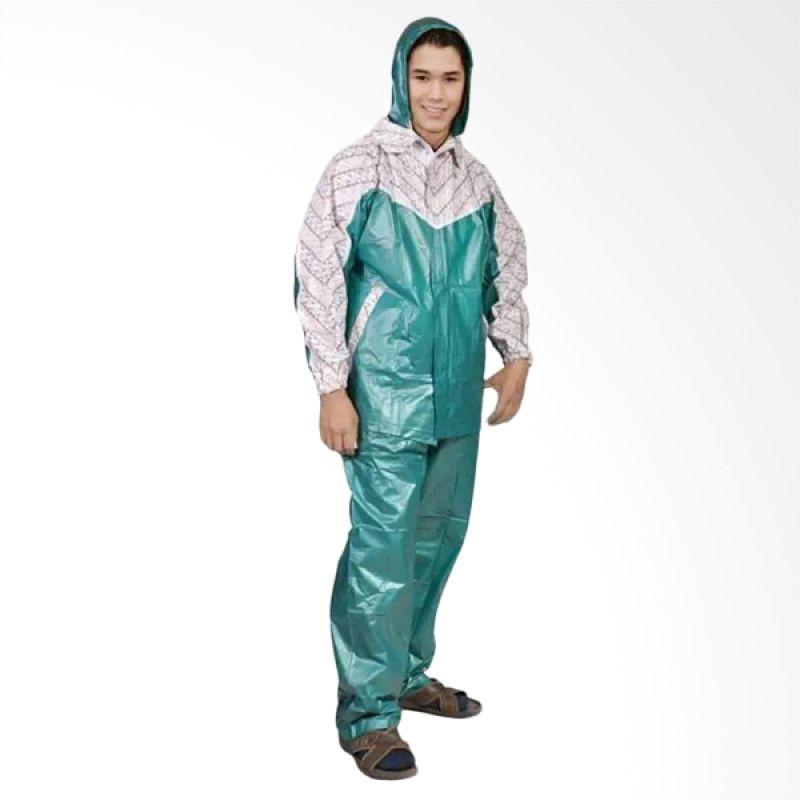 Rainwear Batik Hijau Set Jas Hujan