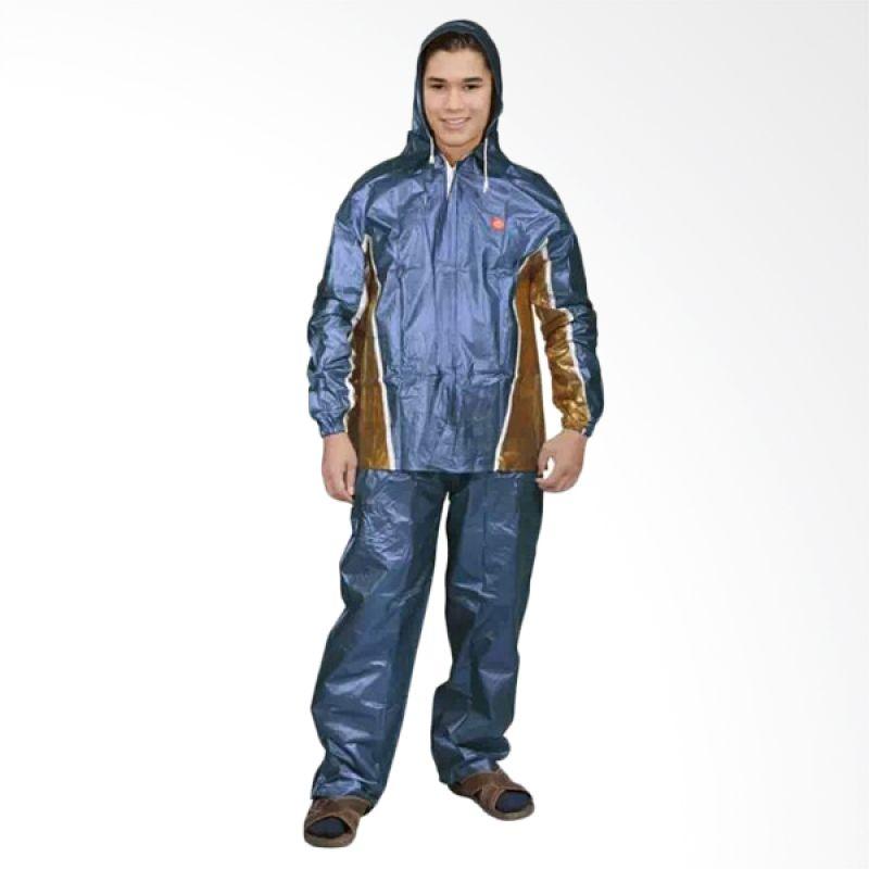 Rainwear Fixie Biru Set Jas Hujan