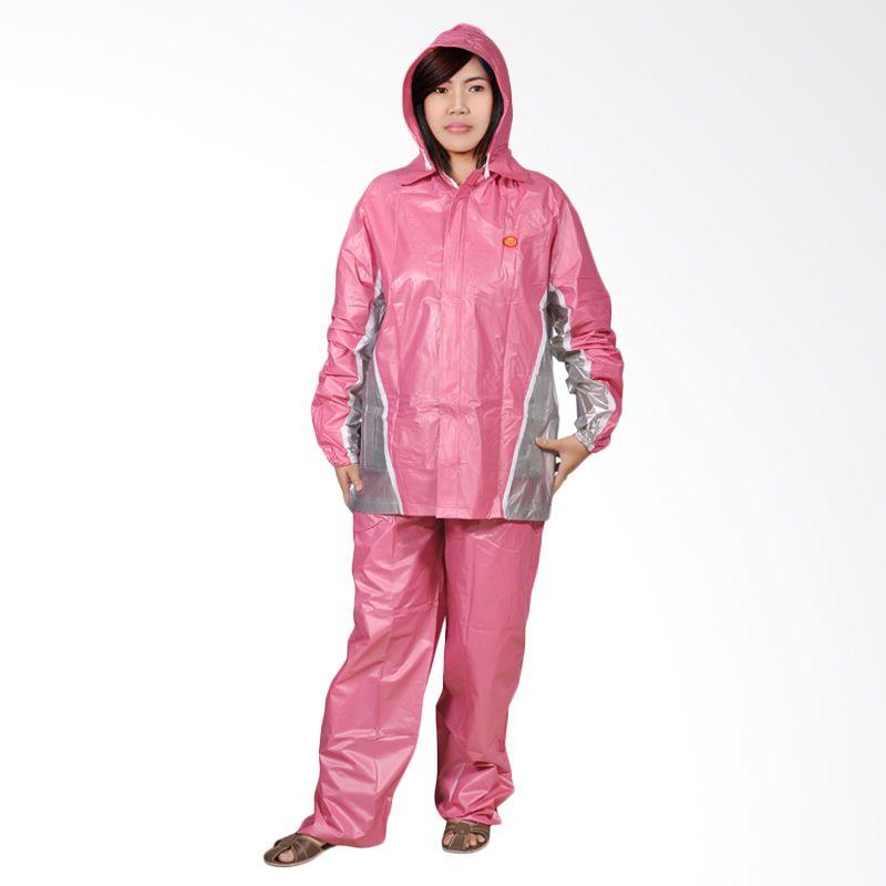 Rainwear Fixie Pink Set Jas Hujan