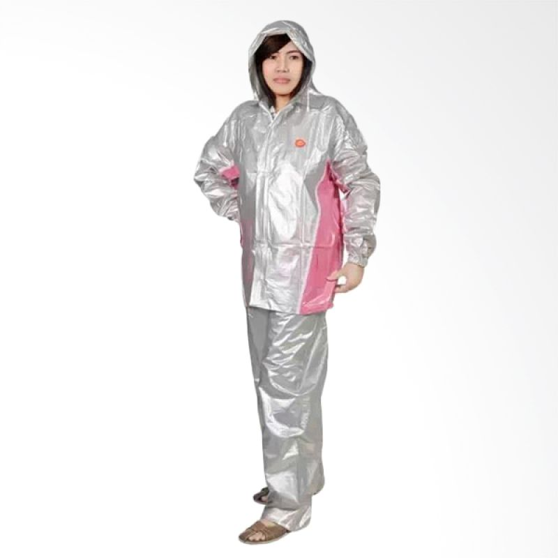 Rainwear Fixie Silver Set Jas Hujan