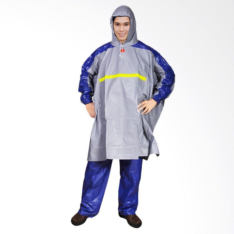 Rainwear Poncho Gets Abu - Abu Set Jas Hujan