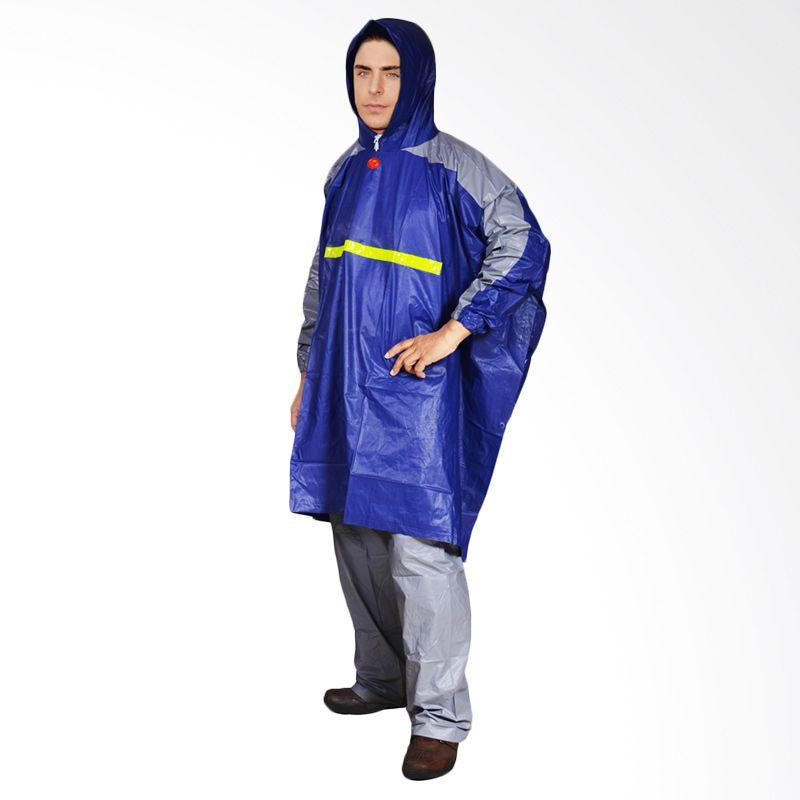 Rainwear Poncho Gets Biru Set Jas Hujan