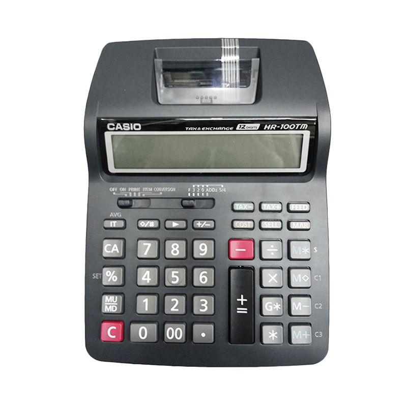 Casio HP-100TM-BK Hitam Printing Kalkulator