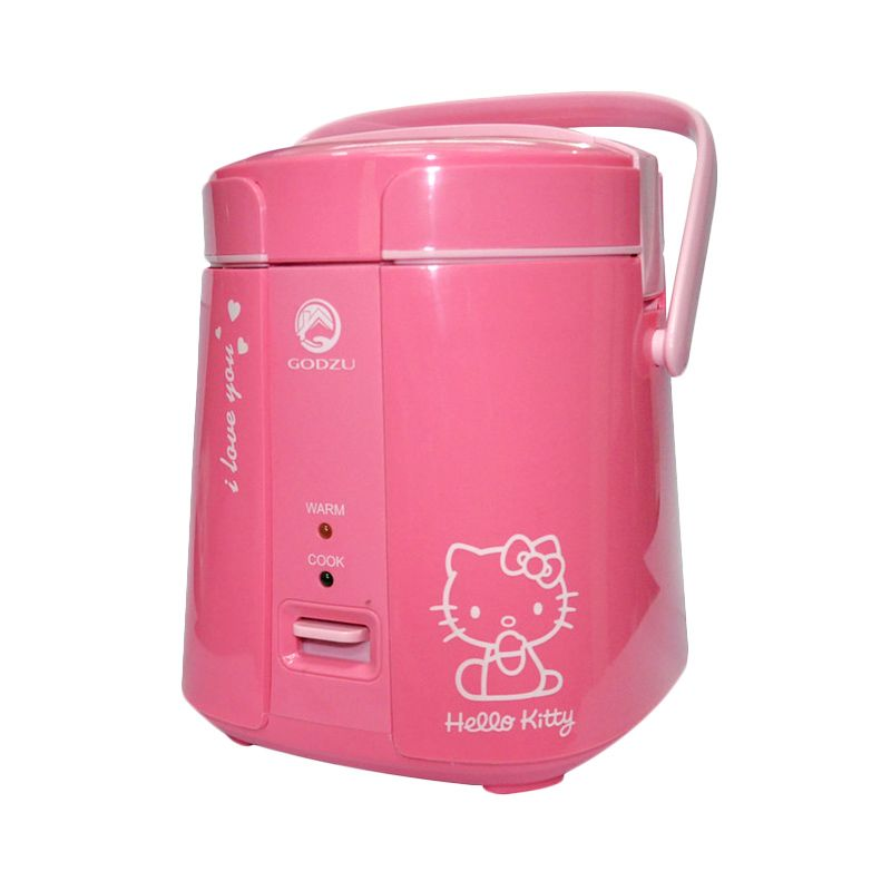 Godzu Mini Portable Smart Cooking Pink Rice cooker [1.2 L]