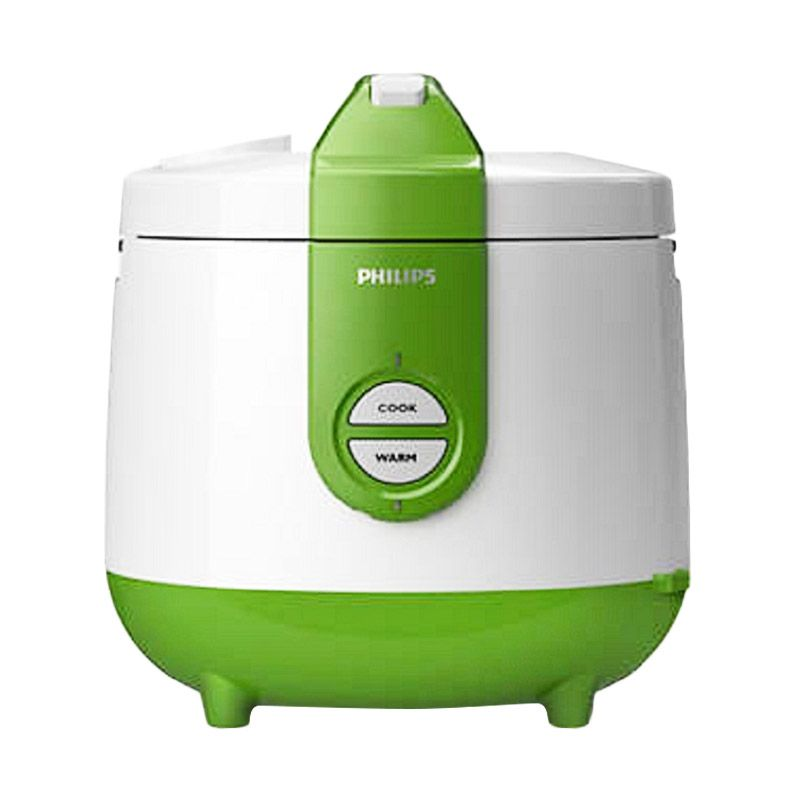 Philips HD3118-31 Putih Hijau Rice Cooker [2 L]