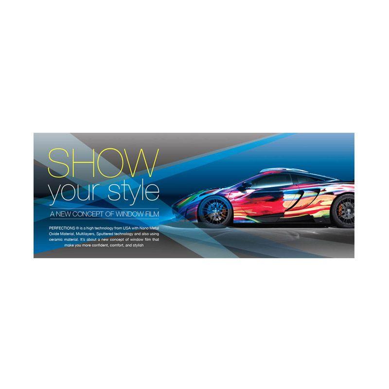 PROMO Perfection Black Crystal Medium Car Jadetabek Hitam Kaca Film Full Body [Get 1 FREE Kit Wash & Glow Shampoo Pouch]