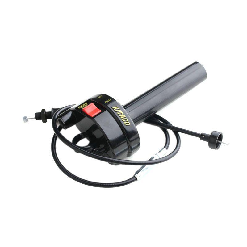 Holder Gas Spontan KTC On/Off + Kabel Gas Warna Hitam (HGS9043)