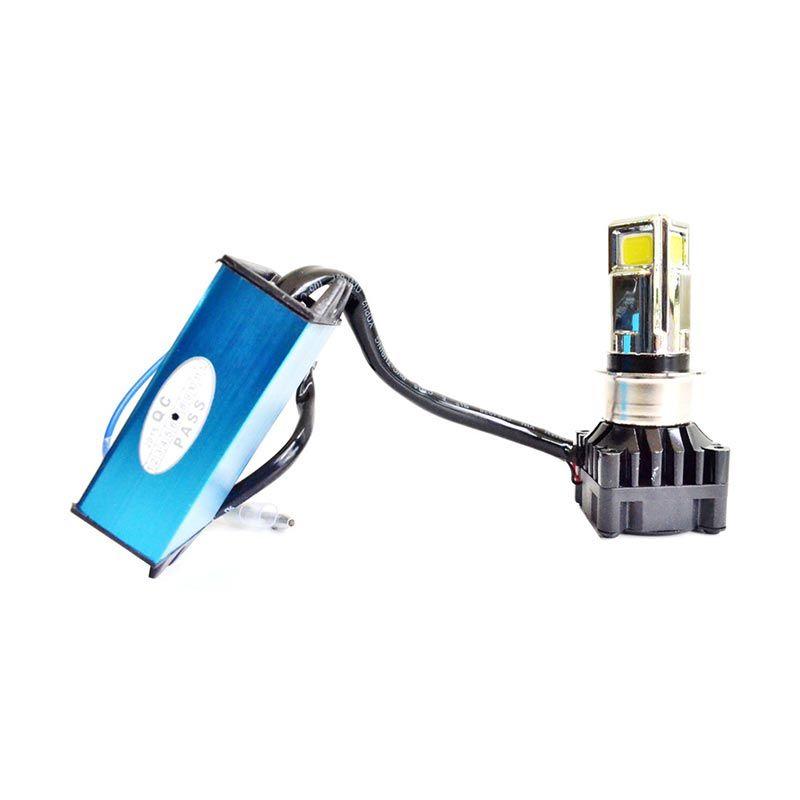 Raja Motor DOH9322 Lampu Depan LED 3 Sisi Plat Dudukan Kotak Dengan Plat Penyesuaian