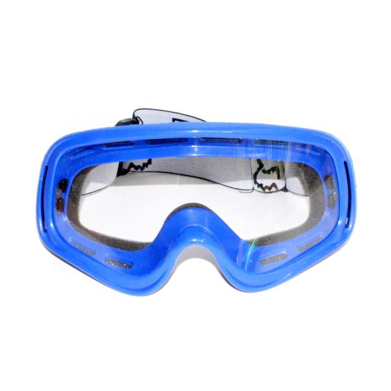 Raja Motor Fox KMT6036 Kaca Clear Biru Kacamata Google