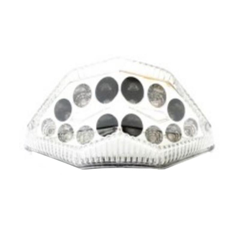 harga Raja Motor LAS4009 Lampu Stop LED Model Bulat dengan Sen Belakang untuk Kawasaki Ninja 250Fi - Putih Blibli.com