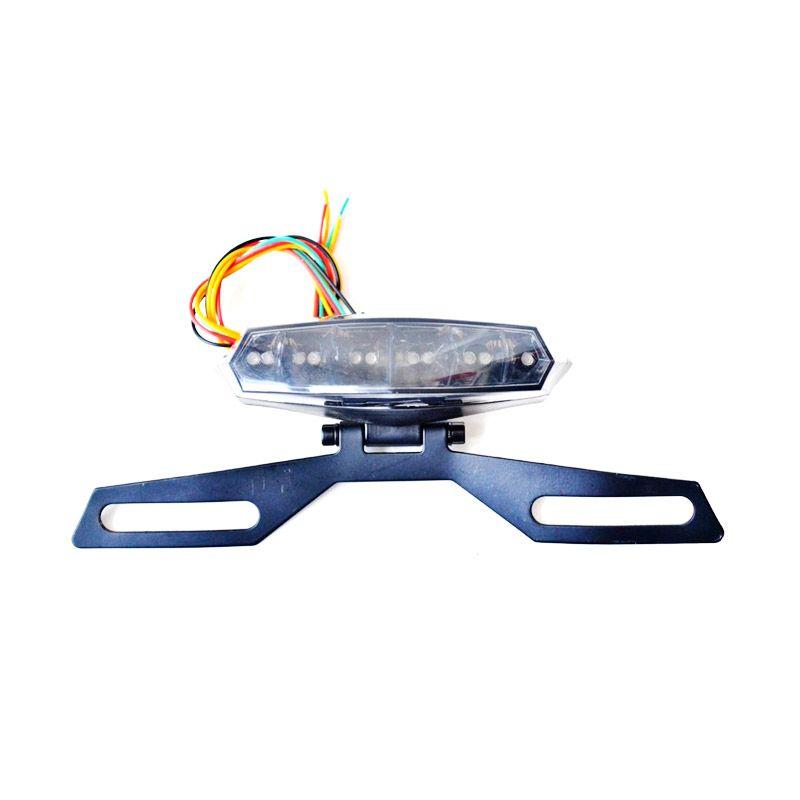 Raja Motor LAV1069 Lampu Stop Motor dengan Tempat Plat Nomor [Medium]