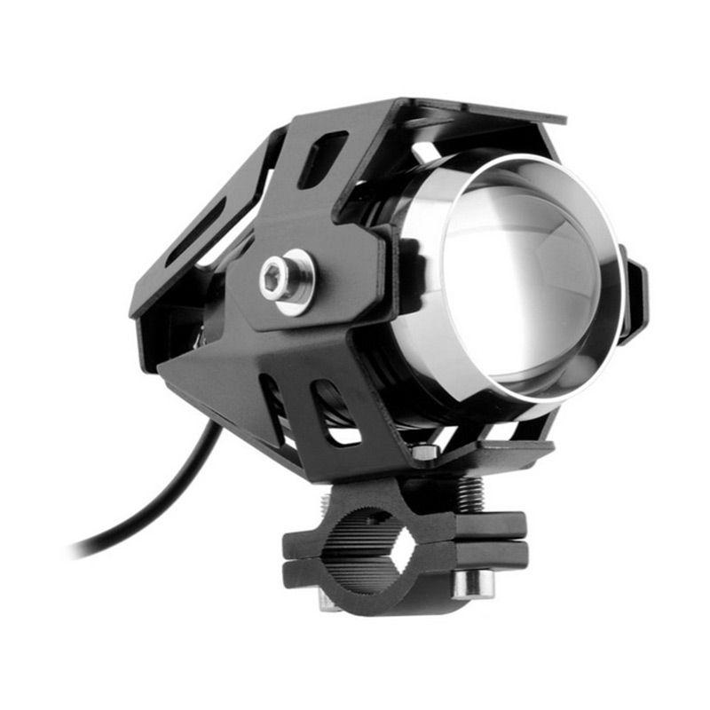 Raja Motor LAV9001-Hitam Variasi LED Projector Transformer U5 Universal Lampu Depan Motor