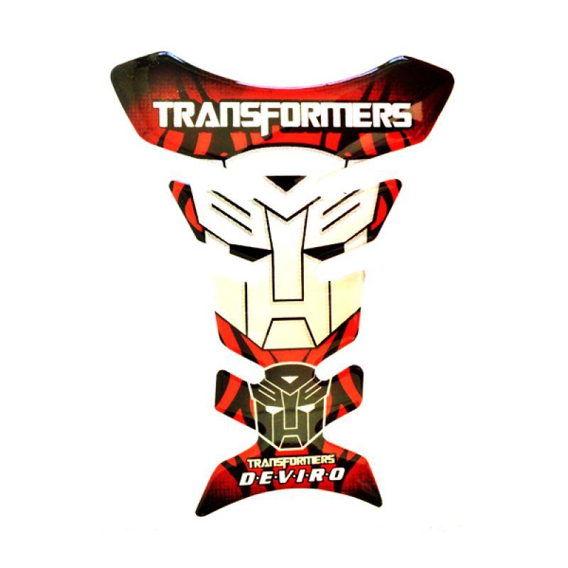 Raja Motor PET9008-Transformer-Merah Deviro Sticker Pelindung Tangki