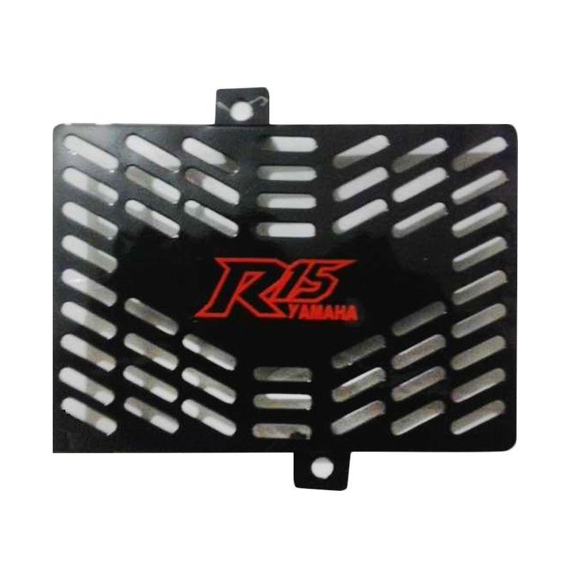 Raja Motor TRD3053-Hitam Tutup Radiator for Yamaha R-15