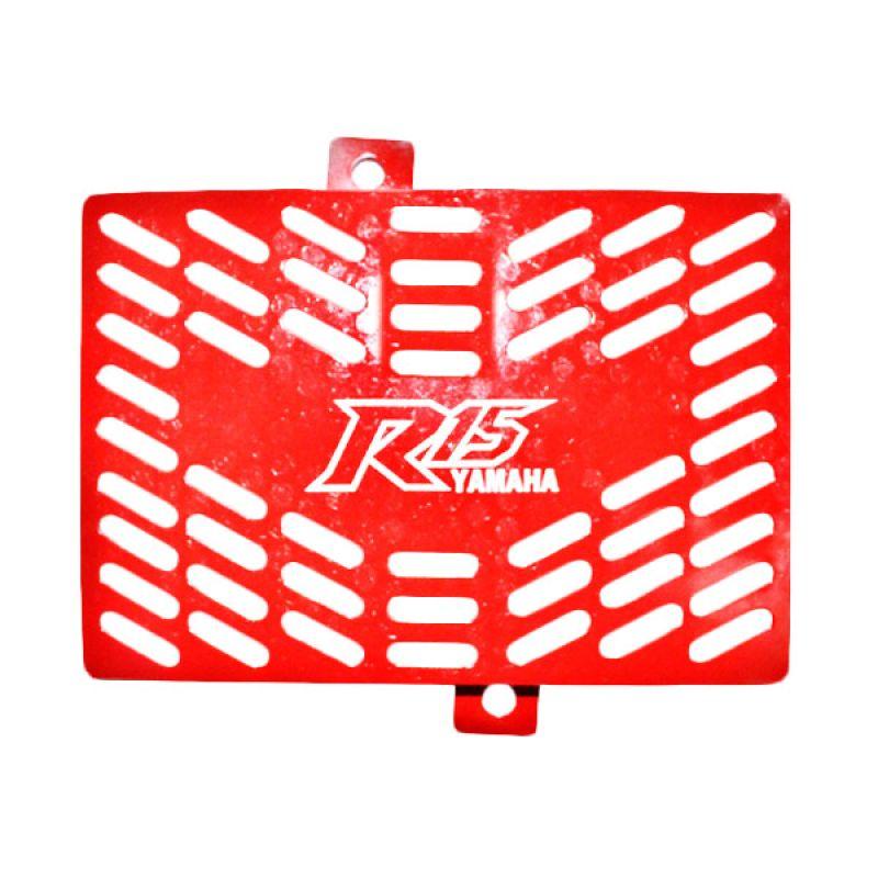 Raja Motor TRD3053-Merah Tutup Radiator for Yamaha R-15