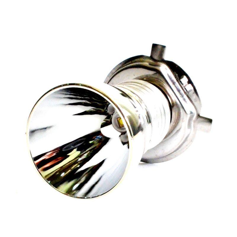 RajaMotor DOH9051 Putih Lampu Depan LED H4 dengan Reflektor Corong