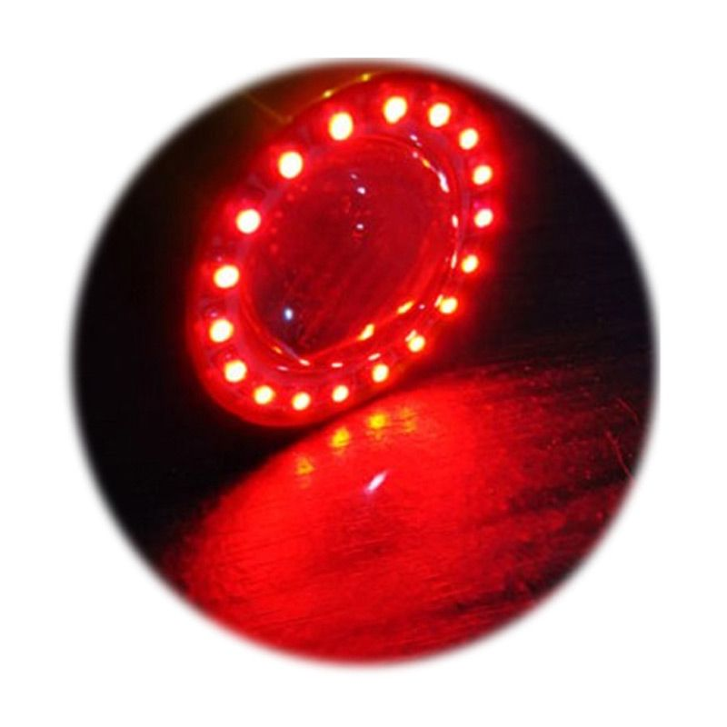 RajaMotor DOH9301 Endless Lite Moonlite LED Projector with Angel Eyes Red