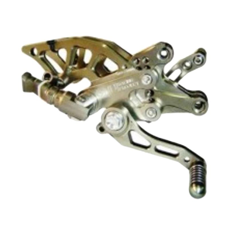 RajaMotor NUI Monster Footstep Underbone-Rearset Rest - Tekuk Honda CBR150 Thailand- Titanium [FSU1104-Thai-Titanium]