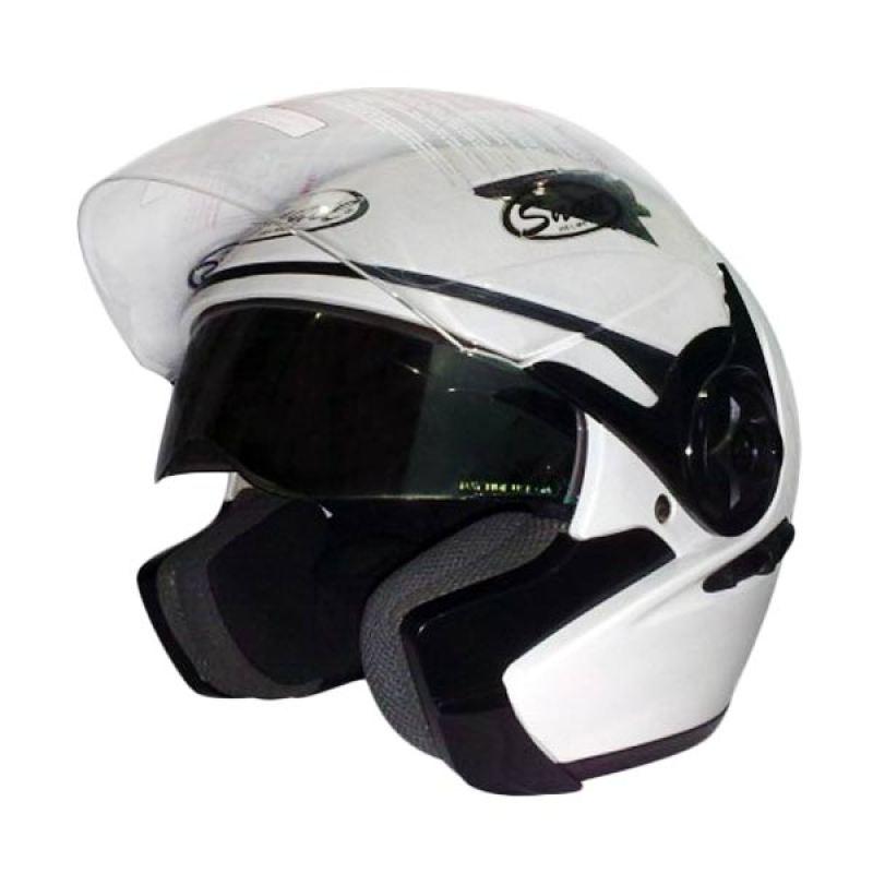 Snail Helm 2 Kaca Half Face FF617 Putih