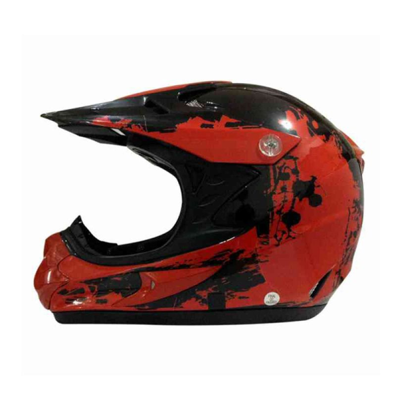 Snail HLM6066 - MX308 Clear Red Black Motif Helm Motocross