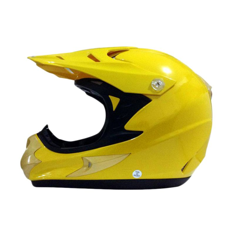 Snail HLM6066 MX308 Kuning Polos Helm Motocross