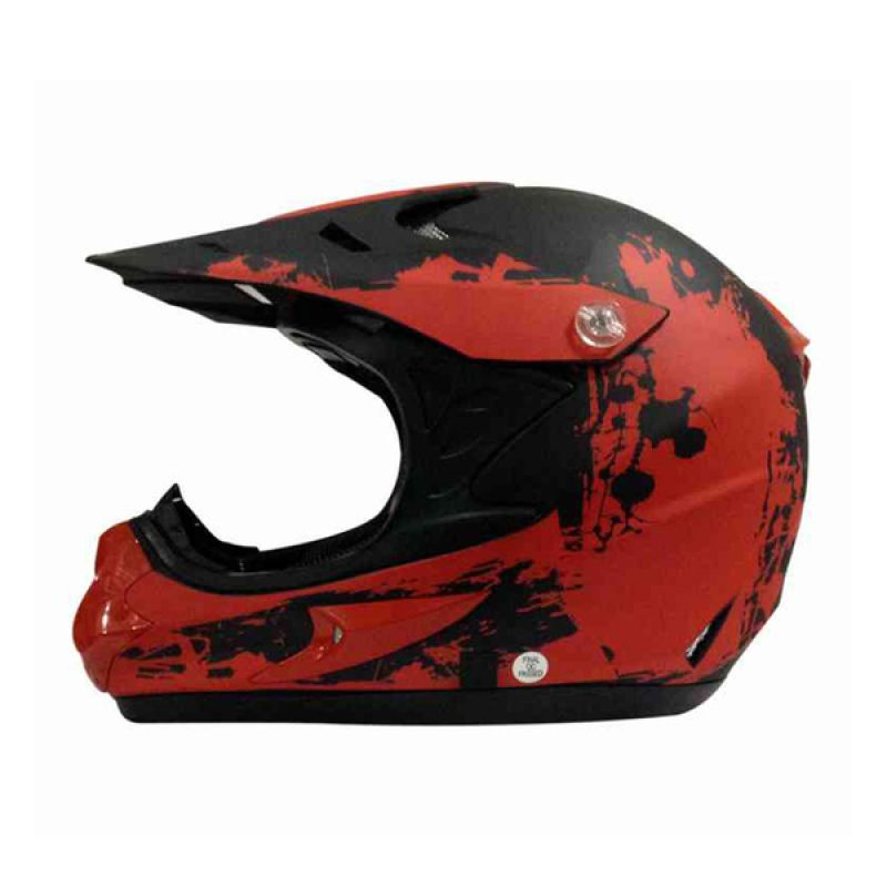 Snail HLM6066 - MX308 Red Black Doff Motif Helm Motocross