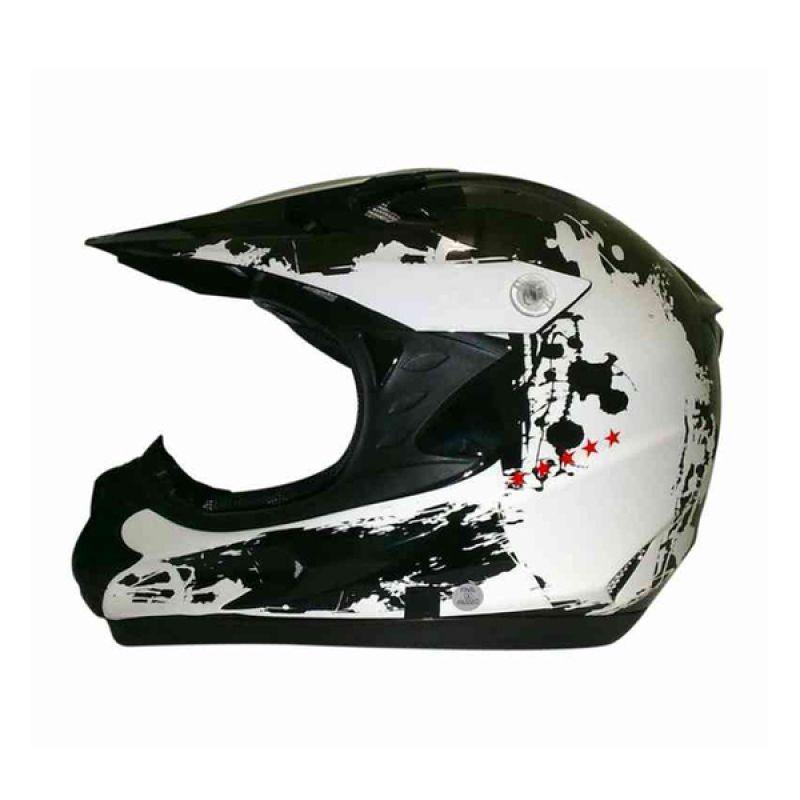 Snail HLM6066 - MX308 White Black Motif Helm Motocross