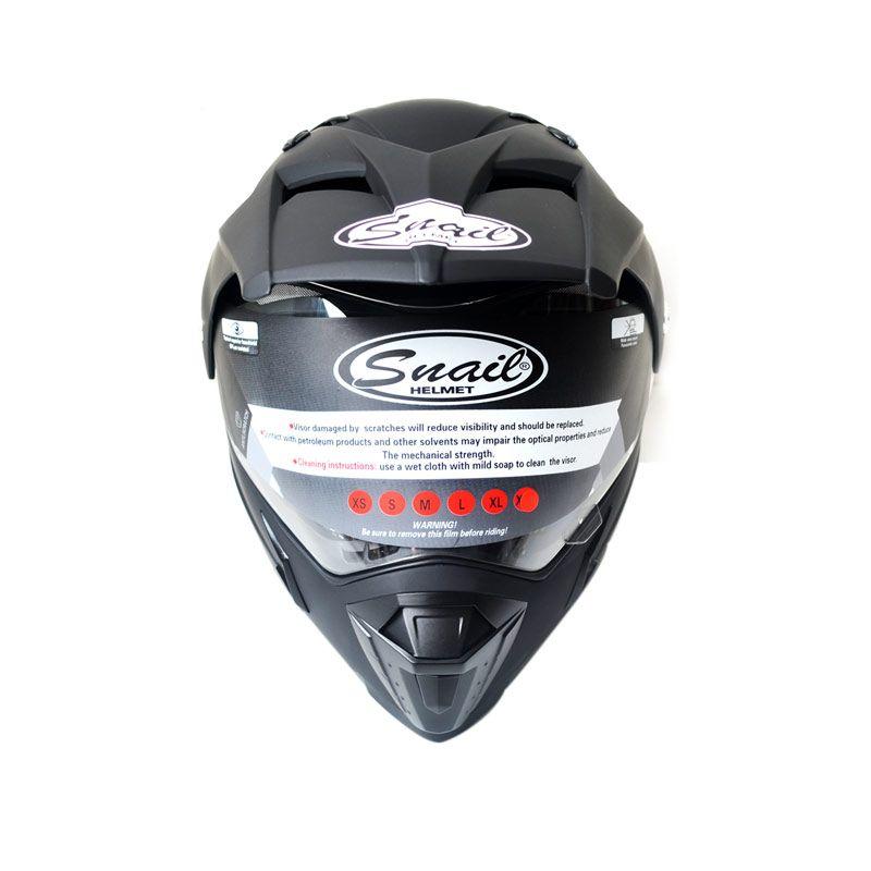 Snail HLM6088 - MX311 Black Doff Helm Motocross
