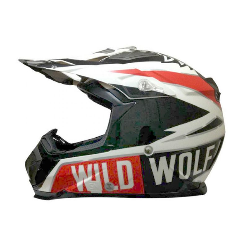 Snail HLM6089 - MX315 Clear Wild Wolf Motif Helm Motocross