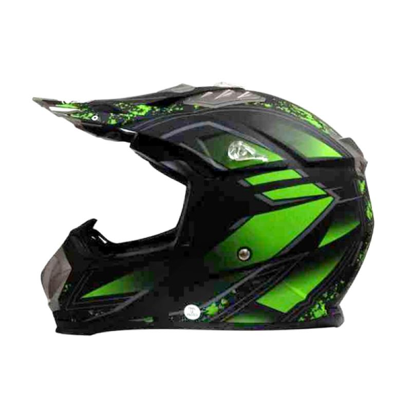 Snail HLM6089 - MX315 Green Clear Motif Helm Motocross