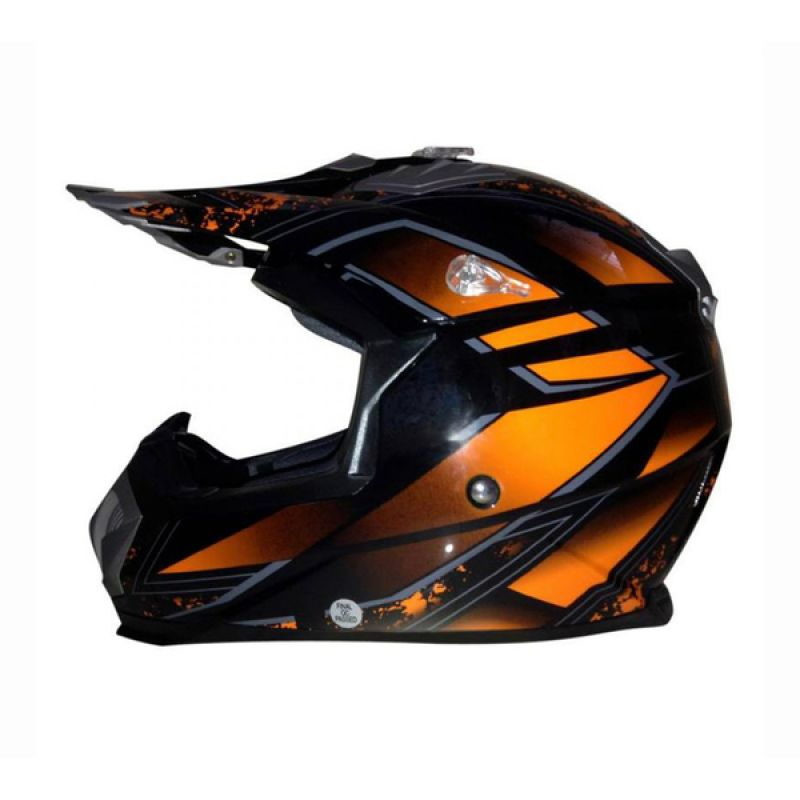Snail HLM6089 - MX315 Orange Clear Motif Helm Motocross