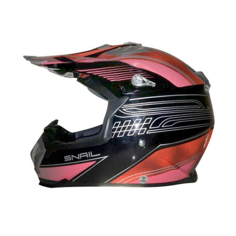 Snail HLM6089 - MX315 Pink Clear Motif Helm Motocross
